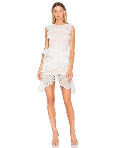 ef0699b6a77d Alexis | White Arleigh Dress | Lyst Ruffle Dress, Dress Skirt, Lace Ruffle,