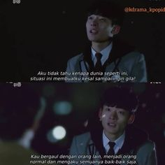 Quotes Drama Korea, Drama Quotes, Sad Quotes, Movie Quotes, Qoutes, Self Reminder, Doa, Korean Drama, Kdrama