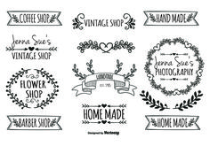 Hand Drawn Style Label Set