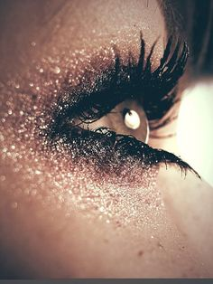 make-up, eyes, pink, glitter