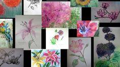 Акварель. Цветы. Рисуем онлайн 30 июля.