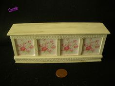 1:12 Scale Dolls House Miniature SHABBY CHIC PINK ROSE / LACE SHOP COUNTER