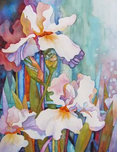 Wendy Westlake ~ Three White Irises