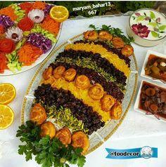 تزیین جوجه کباب Iranian Dishes, Iranian Food, Afghan Food Recipes, Persian Rice, White Chocolate Cheesecake, Persian Culture, Middle Eastern Recipes, Culinary Arts, Food Plating