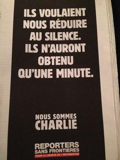 Reporters sans frontières Nous sommes Charlie