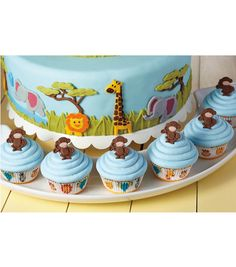 Those monkeys are all business on these Monkey Business Cupcakes from Wilton. Learn how to create your own party design cupcakes on Joann.com.