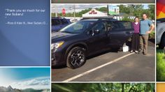 Dear Ross & Kate Novick   A heartfelt thank you for the purchase of your new Subaru from all of us at Premier Subaru.   We're proud to have you as part of the Subaru Family.