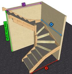 Made to measure 6 kite winder staircase kit degree in Home, Furniture & DIY, DIY Materials, Stairs Oak Stairs, Basement Stairs, House Stairs, Loft Staircase, Staircase Design, Spiral Staircase, Staircases, Cottage Staircase, Winding Staircase