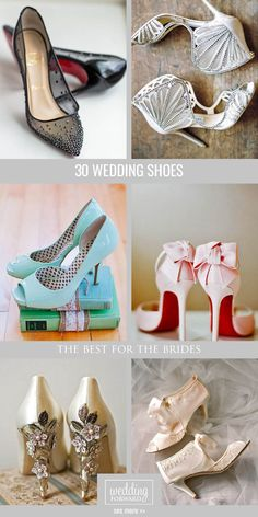 30 Most Wanted Wedding Shoes for Bride ❤ You have already chosen your wedding dress, make-up, maybe even hairstyle, so it's time to think about wedding shoes! See more: http://www.weddingforward.com/wedding-shoes/ #weddings #shoes