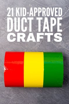 21 Duct Tape Crafts for Kids | From simple bookmarks and lanyards, to arm bands, bracelets, and belts, to hair bows and headbands, to wallets, purses, iPhone cases, and iPad covers, these duck tape crafts for kids are the perfect mix of cute, fun, and cool! If you're looking for easy DIY crafts kids can make, these easy creative ideas will not disappoint! These step by step instructions and tutorials will teach your kids how to make awesome things to give as gifts - and to sell - in minutes! Duct Tape Belt, Duct Tape Bracelets, Easy Diy Crafts, Diy Crafts For Kids, Duct Tape Bookmarks, Autism Behavior Management, Duct Tape Flowers, Autism Quotes, Ipad Covers
