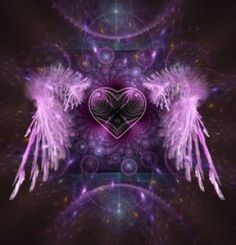 Risultati immagini per purple heart with wings Purple Love, All Things Purple, Shades Of Purple, Purple Stuff, Purple Swag, Love And Light, Peace And Love, Archangel Sandalphon, Coeur Gif