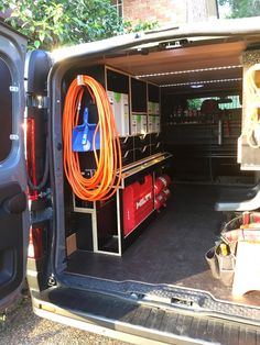 Carpentry van fitout phase 10: Fitting miscellaneous ext cords and air hoses etc.