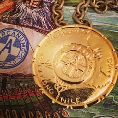The Atlanteans Captain's pin. #mardigras2014 #neworleans #jewelry