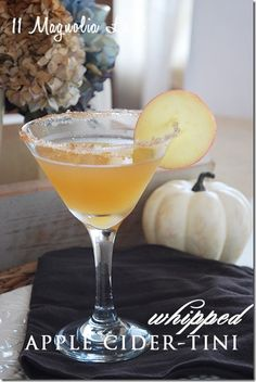 Whipped Apple Cider Martinis Halloween & Fall