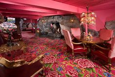 madonnasuite at The Madonna Inn -California. You have to go see all the rooms -they're decorated entirely kitsch! Amazing! Definitely on my list!