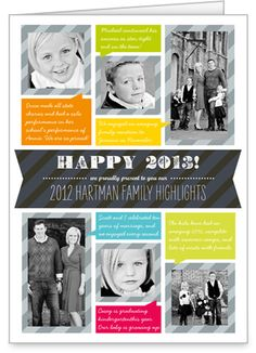 Our Family Highlights New Year's Card