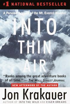 Into Thin Air by Jon Krakauer | 17 Books All Gryffindors Will Love