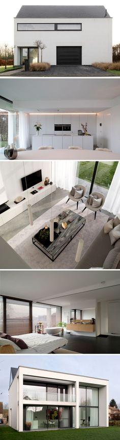 Exterior House Ideas - Home Exterior Makeover - - - Jardines Exterior Oficina Modern House Design, Modern Interior Design, Interior Design Living Room, Living Room Designs, Craftsman House Plans, New House Plans, Modern Exterior, French Exterior, Bungalow Exterior
