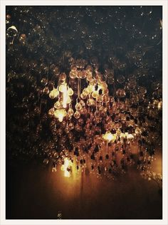 cluster of lights on the rooftop of the gramercy park hotel   {via oh joy!}