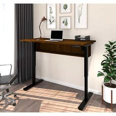 "Digital 30""x60"" Height Adjustable Table- Chocolate"