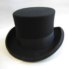 Black Australian Wool Lofty Dress Pork Pie Jazz Hat SKU-159019
