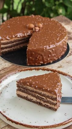 Chocolate Cheesecake, Chocolate Cake, Pureed Food Recipes, Cooking Recipes, Party Desserts, Dessert Recipes, Greek Pastries, Quick Cake, Greek Dishes