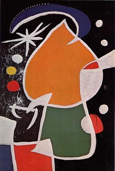 "unnecessaryfiles: "" Woman in the Night by Joan Miró 1974 """