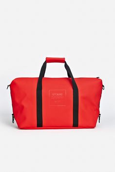 f2f7798dc204 Waterproof duffle bag with tonal logo print at the front. Zip closure