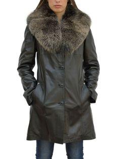 Cappotto da donna in vera pelle e pelliccia mod.Sonia - Pellein.com