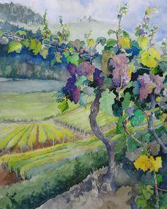 """Benton County Vineyard"" by Doyle Leek by Corvallis Fall Festival, via Flickr"