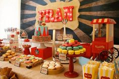 Vintage Circus Party via Kara's Party Ideas KarasPartyIdeas.com #CircusParty #VintageCircus #PartyIdeas