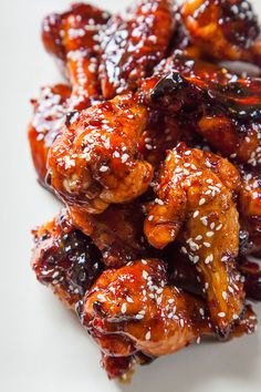 60 minutes · Makes · This addictive and easy to make teriyaki chicken wings recipe is perfect as an appetizer for a party, picnic or just at home for an easy snack! Thai Chicken Wings Recipe, Cooking Chicken Wings, Chicken Drumstick Recipes, Baked Chicken Wings, Pot Roast Recipes, Chicken Wing Recipes, Healthy Chicken Recipes, Chicken Breasts, Chicken Wing Sauces