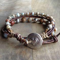 17cm wrist,Impression jasper boho bracelet boho chic bracelet bohemian bracelet womens jewelry gift for her gemstone bracelet western by Thebohoflow on Etsy