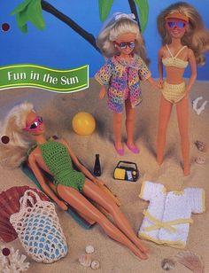Fun In The Sun Swimwear For Dolls Annie's Crochet Pattern/Instructions
