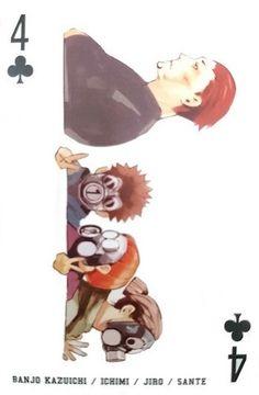 Banjo, Ichimi, Jiro & Sante ~ 4 of Clubs ~ Tokyo Ghoul trump cards