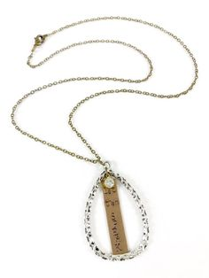 Let them Speak, Silver and Brass Teardrop Pendant Necklaces for Women, Word Jewelry Inspirational Je