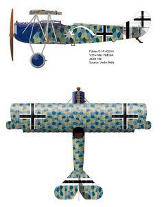 Fokker D.VII, Jasta 16b. Pilot Max Holtzem