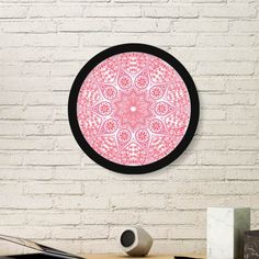 India Flavor Paisley Pattern and Lotus Flower and Banyan and Ox Retro Illustration Round Simple Picture Frame Art Prints of Paintings Home Wall Decal