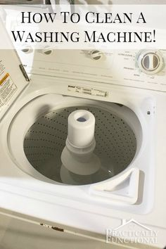 Did you know you need to clean your washing machine? Here's a simple, step by step tutorial on how to clean a washing machine with vinegar and bleach. It's simple to do and it works wonders!