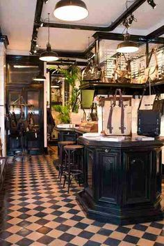 PROPERTY OF...| HIP SHOP | BAGS and ACCESSORIES |The Property Of... Flagship Store is located in Amsterdam, on Herenstraat 2 in the cozy Jordaan area. The interior of the store clearly shows the brand's origins in cafe culture: the store's focal point is a beautiful bar which doubles as a cash register, while the antique tiles and mirrors give the space a homely and cozy atmosphere. Enjoy a cup of coffee in our hip store and have a look at our products :) | www.thepropertyof.com