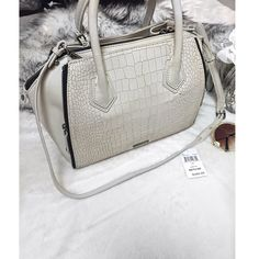 "White Rebecca Minkoff Handbag! White Rebecca Minkoff handbag! Purchased, and it was sitting in my closet for few month, never worn! Perfect condition, absolutely clean and new on the inside as well! Dimensions: length - 15"" width - 6.5"" height - 8.5"" Rebecca Minkoff Bags Satchels"