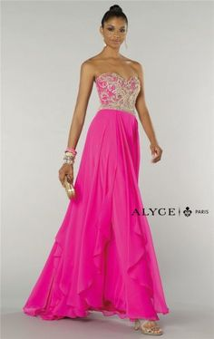 Alyce 6420 Long Beaded Pink Prom Dresses 2015 On Sale
