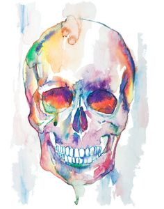Skull watercolor painting watercolor print by EbbAndFlowWatercolor Anatomy Illustration, Medicine Illustration, Watercolor Print, Watercolor Paintings, Medical Art, Identity Art, Creative Workshop, A Level Art, Anatomy Art