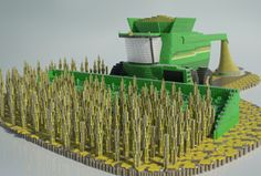 John Deere built a full-size combine with over 300,000 cans of food!  This is so cool!