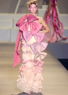 Viktor and Rolf s/s 2005. Pretty sure this is the real life dress from sleeping beauty before the wands were used...