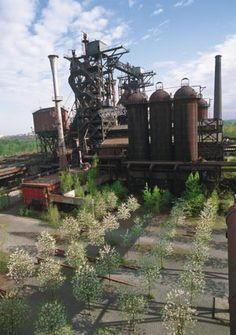 Latz+Partner, Landscape Park Duisburg Nord. Blast furnace