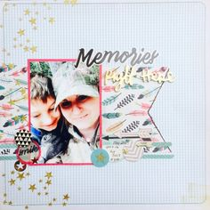 scrapbook layout idea using Crate Paper Journey collection