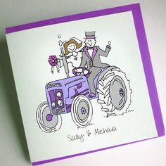Tractor Wedding Invitation (Folded) [TWS000001] - £2.75 : Cool Wedding Stationery, The Coolest Wedding Stationery