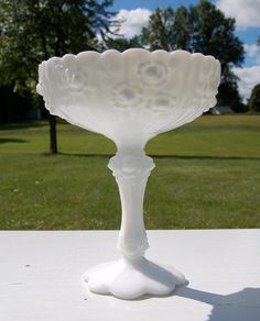 Added this Fenton rose pattern recently to my collection, my fave milk glass pattern by far!