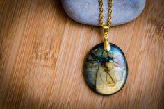 labradorite necklace labradorite pendant gold by LabradoriteDreams